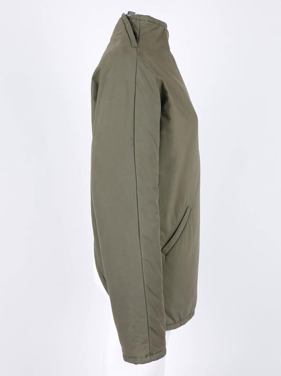 """ALEXANDER McQUEEN A/W 2001 """"What A Merry-Go-Round"""" Green Straight Jacket Coat 2"""