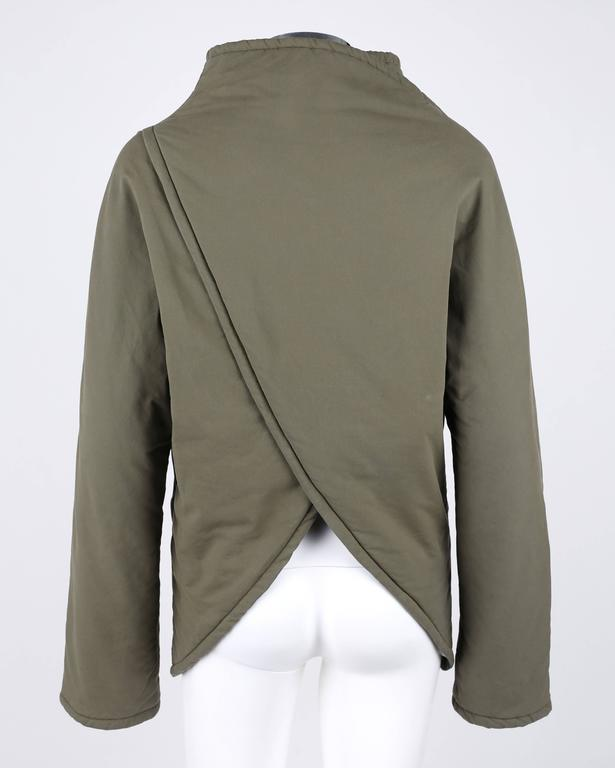 """ALEXANDER McQUEEN A/W 2001 """"What A Merry-Go-Round"""" Green Straight Jacket Coat 3"""