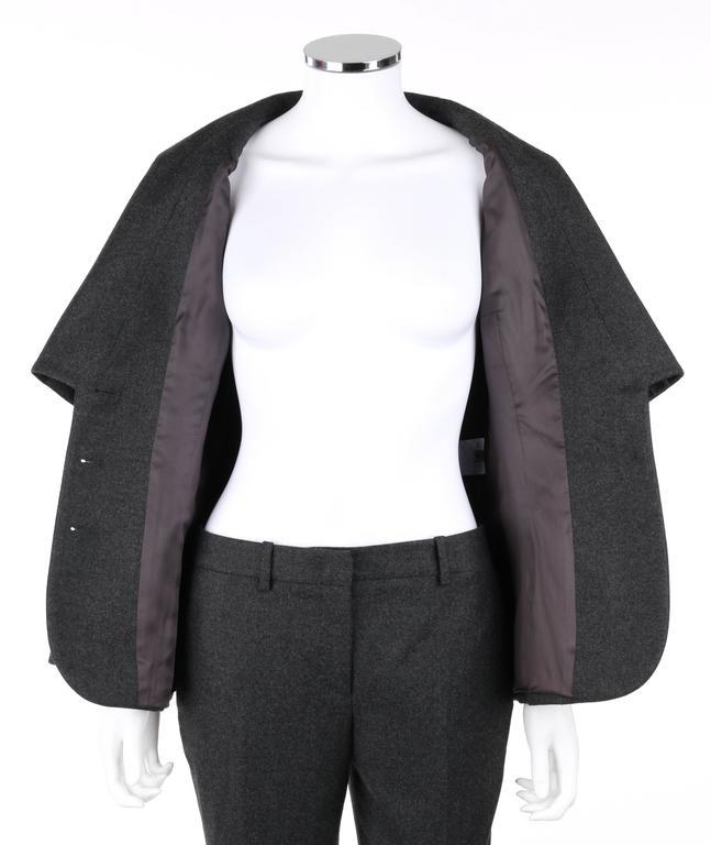 ALEXANDER McQUEEN Pre-Fall 2009 2 Piece Gray Wool Cashmere Blazer Pant Suit Set 6