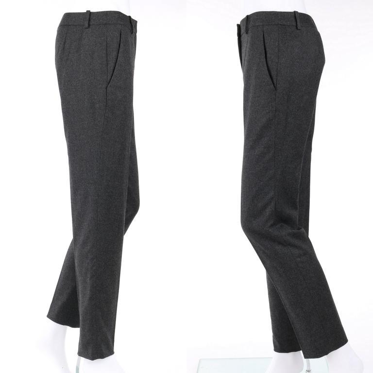 ALEXANDER McQUEEN Pre-Fall 2009 2 Piece Gray Wool Cashmere Blazer Pant Suit Set 8
