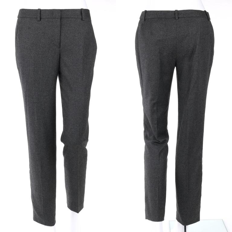 ALEXANDER McQUEEN Pre-Fall 2009 2 Piece Gray Wool Cashmere Blazer Pant Suit Set 7