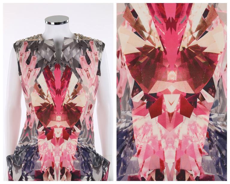 "ALEXANDER McQUEEN S/S 2009 ""Natural Dis-tinction"" Kaleidoscope Crystal Dress 5"