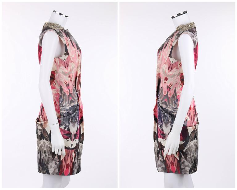"Brown ALEXANDER McQUEEN S/S 2009 ""Natural Dis-tinction"" Kaleidoscope Crystal Dress For Sale"