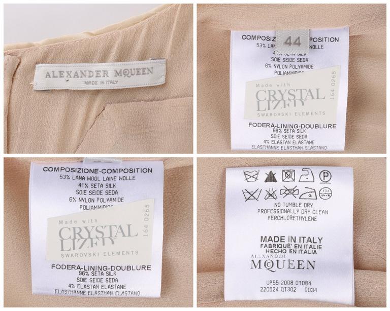 "ALEXANDER McQUEEN S/S 2009 ""Natural Dis-tinction"" Kaleidoscope Crystal Dress 8"