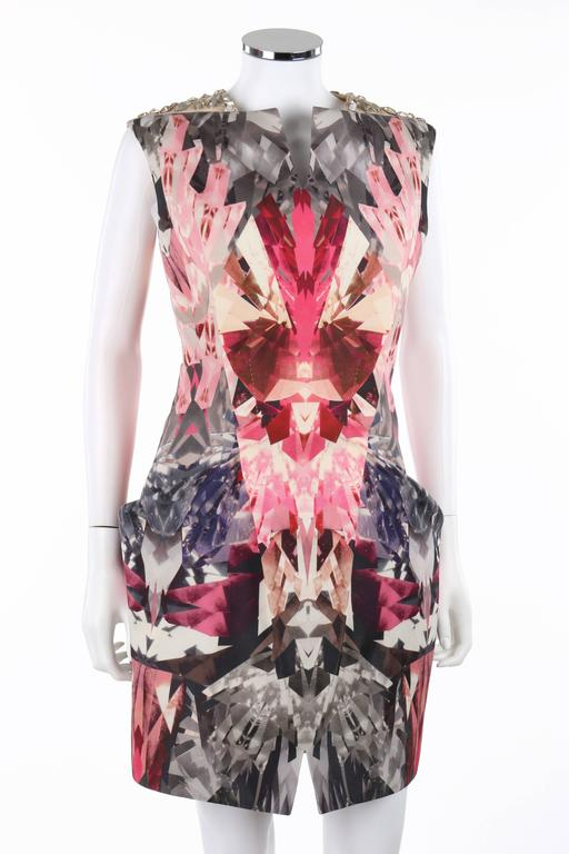 "ALEXANDER McQUEEN S/S 2009 ""Natural Dis-tinction"" Kaleidoscope Crystal Dress 2"