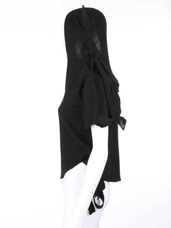 ISSEY MIYAKE A-Poc c.2001 DAI FUJIWARA Black Knit Monkey Top RARE For Sale 3