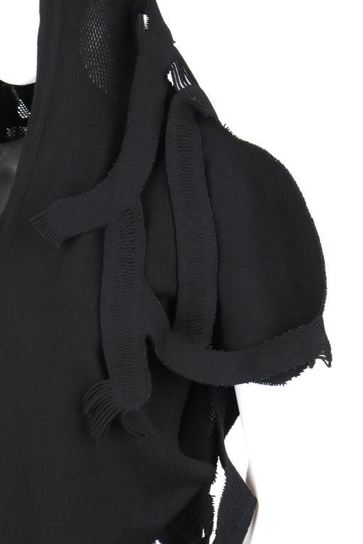 ISSEY MIYAKE A-Poc c.2001 DAI FUJIWARA Black Knit Monkey Top RARE For Sale 4