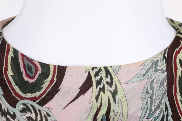 "ALEXANDER McQUEEN S/S 2001 ""Voss"" Pale Pink Paisley Print Chiffon Halter Top 8"