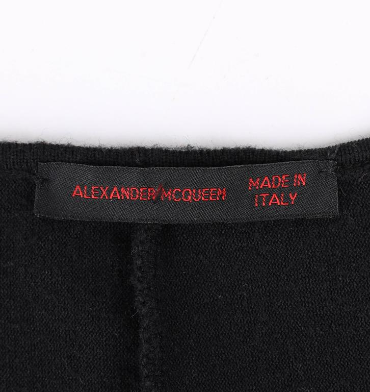 """ALEXANDER McQUEEN S/S 2002 """"Dance of the Twisted Bull"""" Black Cold Shoulder Top 8"""