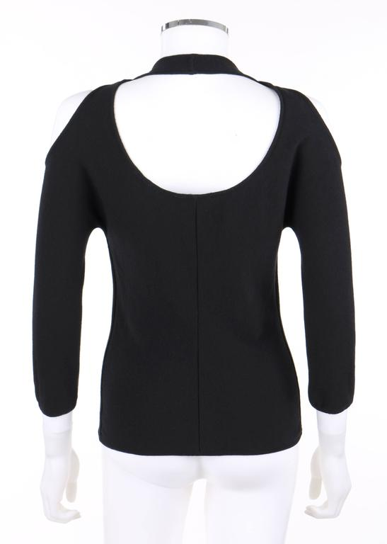 """Women's ALEXANDER McQUEEN S/S 2002 """"Dance of the Twisted Bull"""" Black Cold Shoulder Top For Sale"""