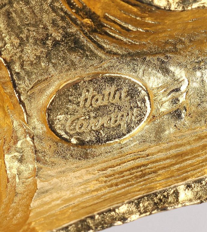 HATTIE CARNEGIE c.1970's Large Gold Fish & Anchor Pendant Statement Necklace 5