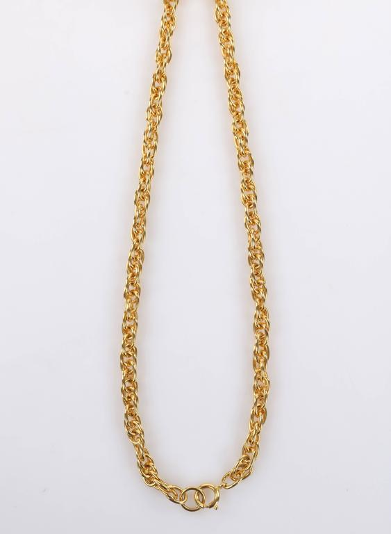 HATTIE CARNEGIE c.1970's Large Gold Fish & Anchor Pendant Statement Necklace 8