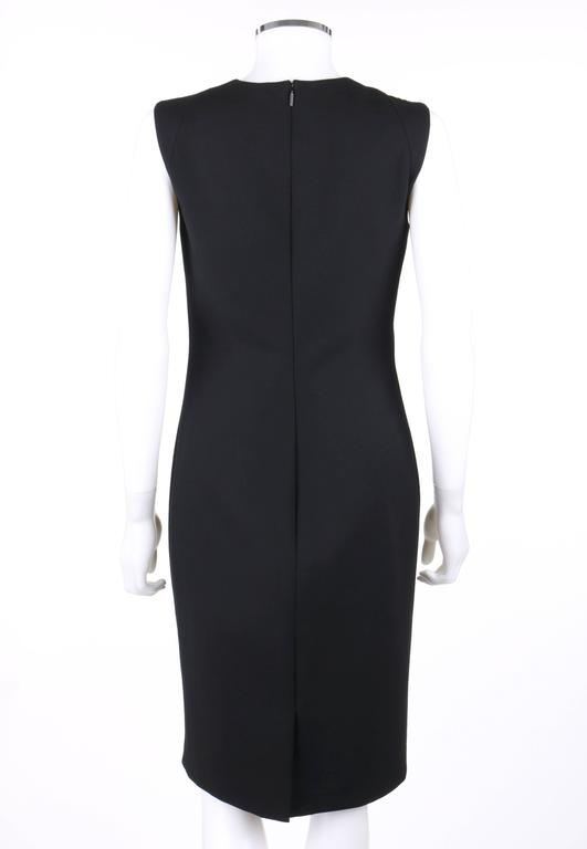 VERSACE A/W 2009 Black Metal Mesh Inset Sheath Cocktail Dress 5
