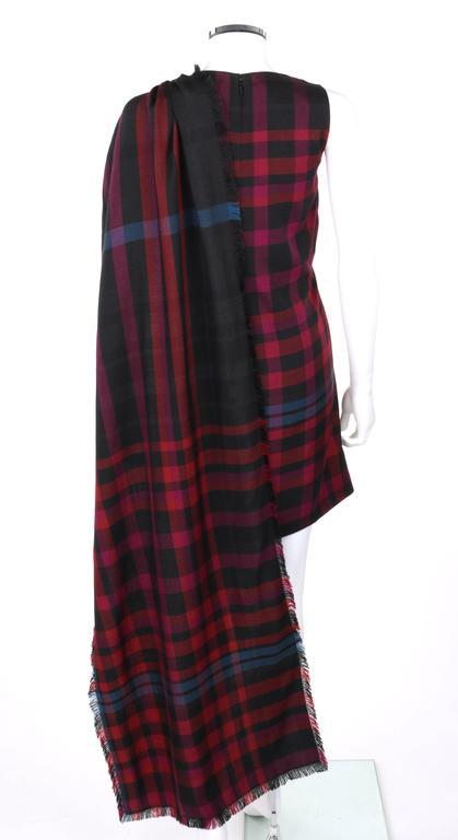 GUCCI A/W 2008 Red & Blue Tartan Plaid Wool Silk Kilt Shift Dress NWT For Sale 1