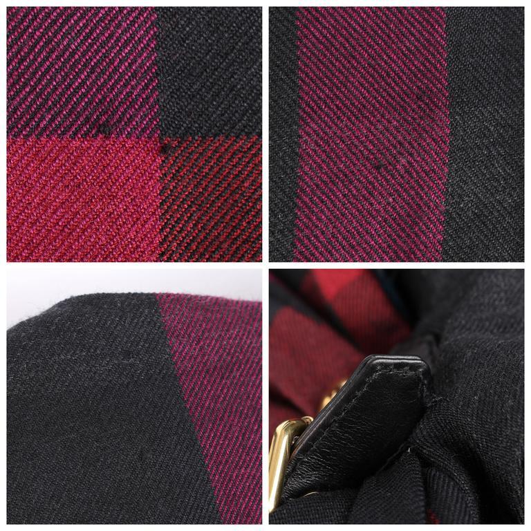 GUCCI A/W 2008 Red & Blue Tartan Plaid Wool Silk Kilt Shift Dress NWT For Sale 5