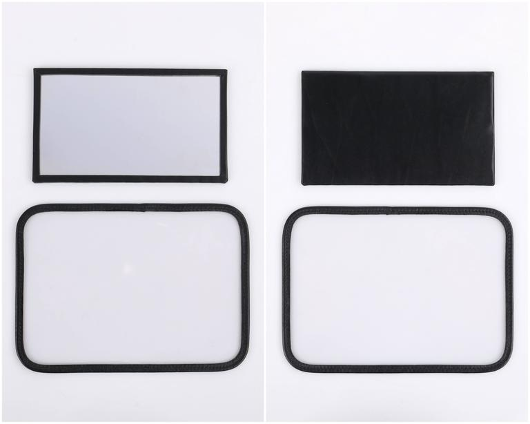 GUCCI Black Genuine Leather Structured Train Case Cosmetic Travel Bag Box Purse For Sale 3