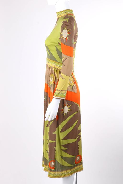 Emilio Pucci C 1960 S Multicolor Abstract Sunburst