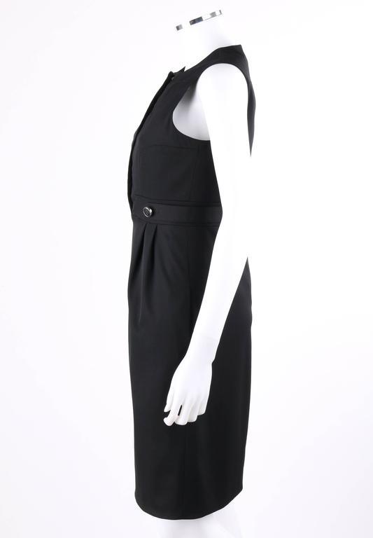 8ecdaf0638 GUCCI A W 2007 Black Wool Cotton Sleeveless Velvet Detail Cocktail Dress NWT  For Sale