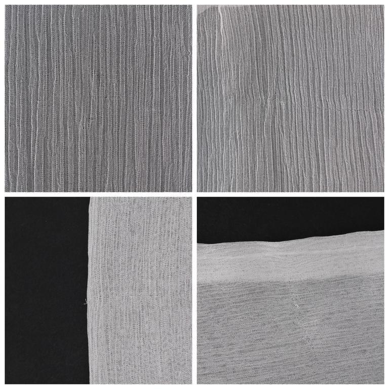 "ALEXANDER McQUEEN S/S 2001 ""Voss"" White Silk Semi Sheer Chiffon Halter Top NWT For Sale 5"