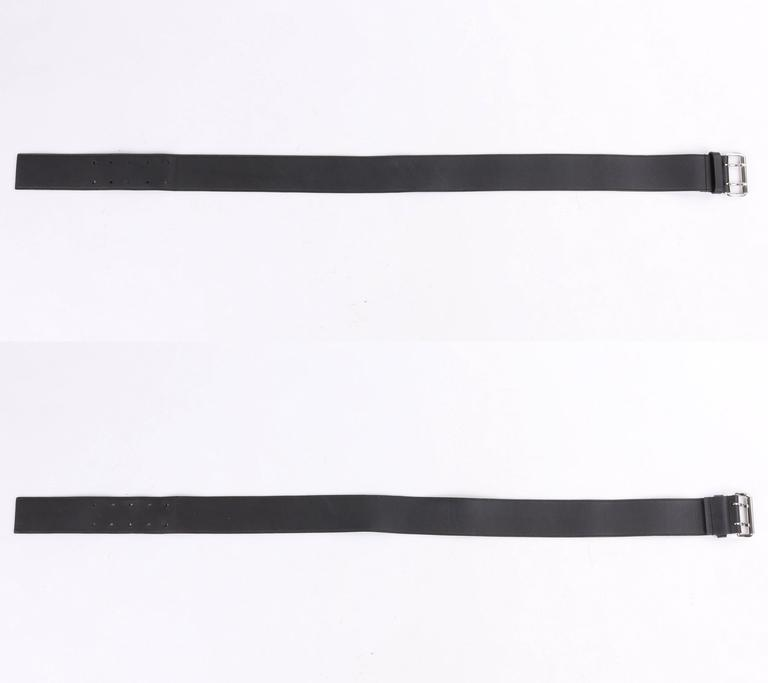 PRADA Sport Dark Brown Leather & Winter White Nylon Double Pouch Waist Belt Bag 7