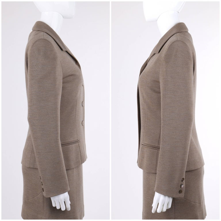 GIVENCHY Couture A/W 1998 ALEXANDER McQUEEN 2 Piece Wool Blazer Dress Suit Set 6