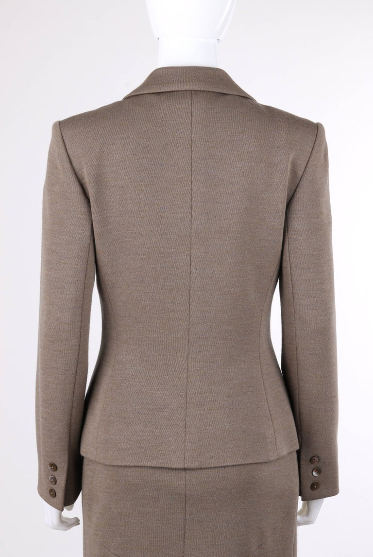 GIVENCHY Couture A/W 1998 ALEXANDER McQUEEN 2 Piece Wool Blazer Dress Suit Set 7