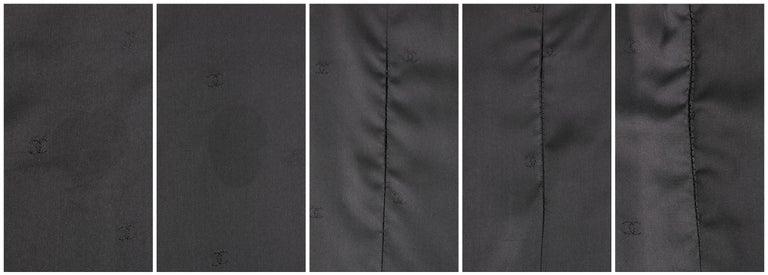 CHANEL A/W 1998 2 Piece Classic Black Boucle Wool Blazer Pencil Skirt Suit Set For Sale 5