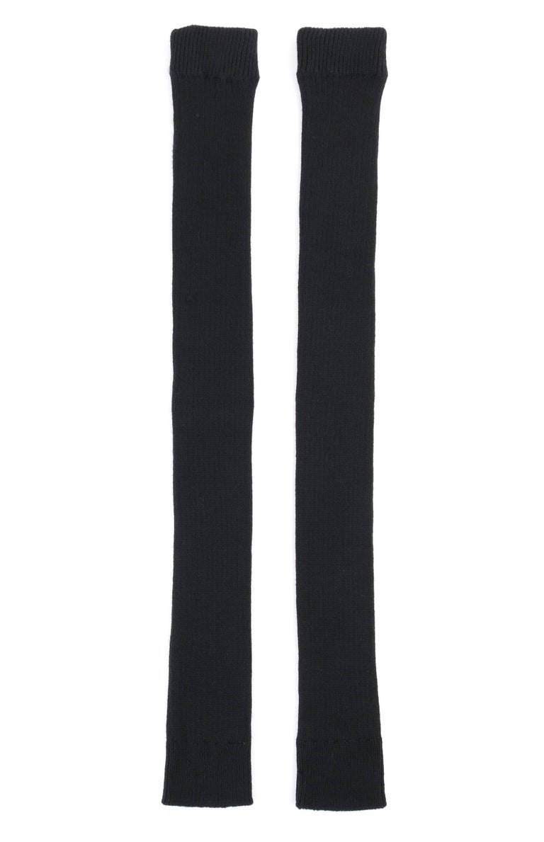 JUNYA WANTANABE for COMME DES GARCONS A/W 2005 Black Wool Knit Leg / Arm Warmers For Sale 2