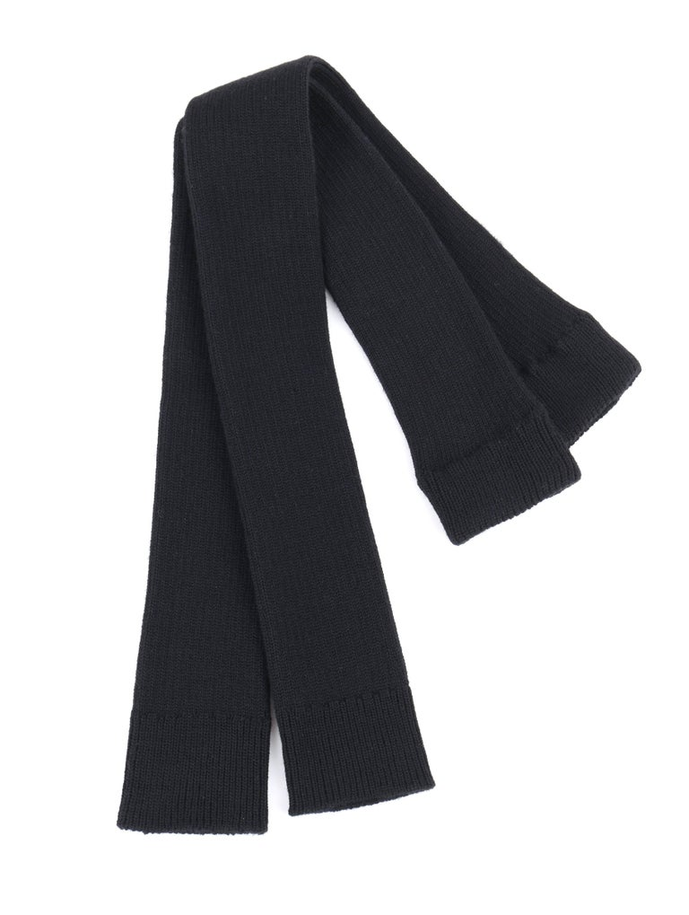 Women's JUNYA WANTANABE for COMME DES GARCONS A/W 2005 Black Wool Knit Leg / Arm Warmers For Sale