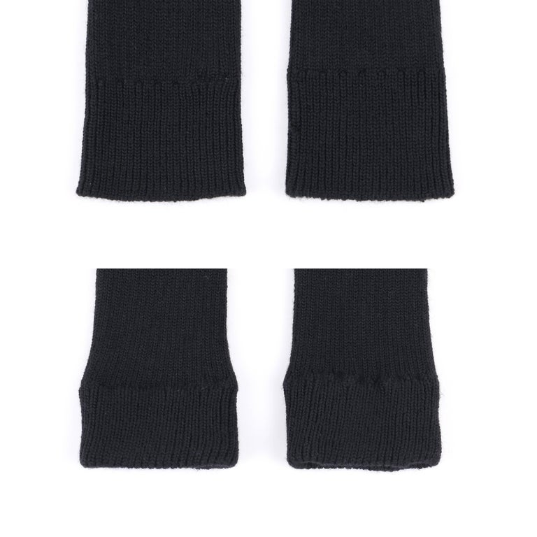 JUNYA WANTANABE for COMME DES GARCONS A/W 2005 Black Wool Knit Leg / Arm Warmers For Sale 3