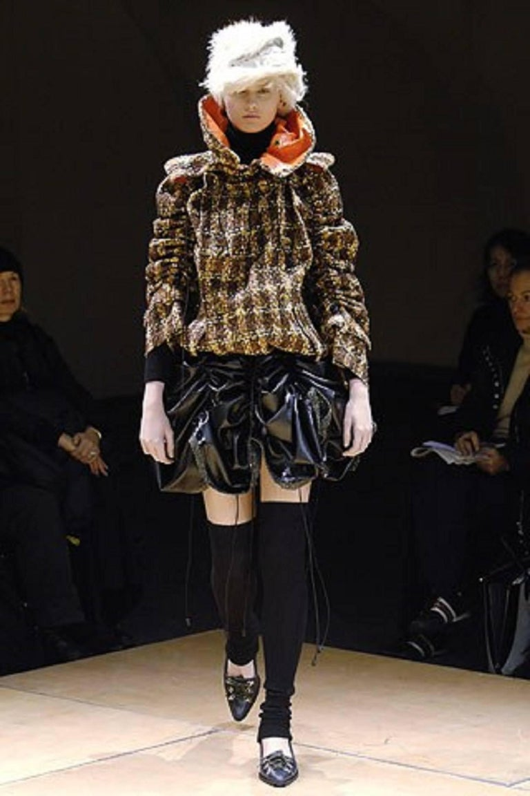JUNYA WANTANABE for COMME DES GARCONS A/W 2005 Black Wool Knit Leg / Arm Warmers For Sale 6