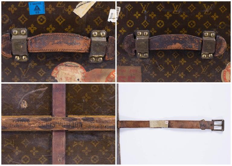 "LOUIS VUITTON ""Lady's Trunk"" c.1920's LV Monogram Canvas Wardrobe Steamer Trunk For Sale 3"
