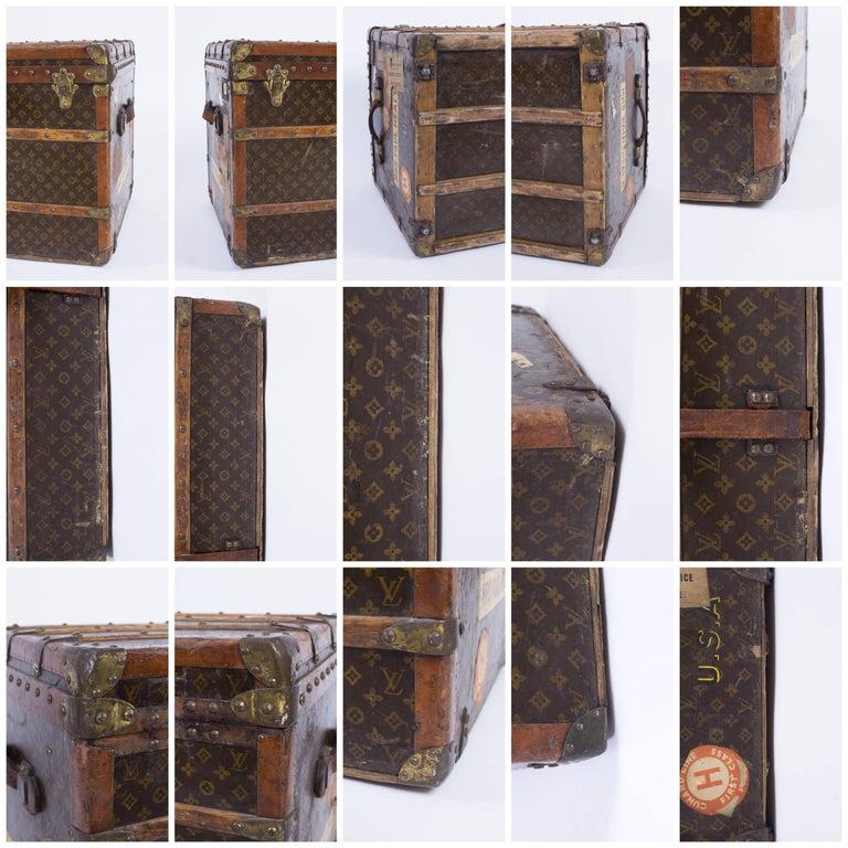 "LOUIS VUITTON ""Lady's Trunk"" c.1920's LV Monogram Canvas Wardrobe Steamer Trunk For Sale 4"