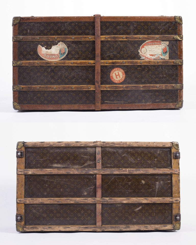 """LOUIS VUITTON """"Lady's Trunk"""" c.1920's LV Monogram Canvas Wardrobe Steamer Trunk In Good Condition For Sale In Thiensville, WI"""