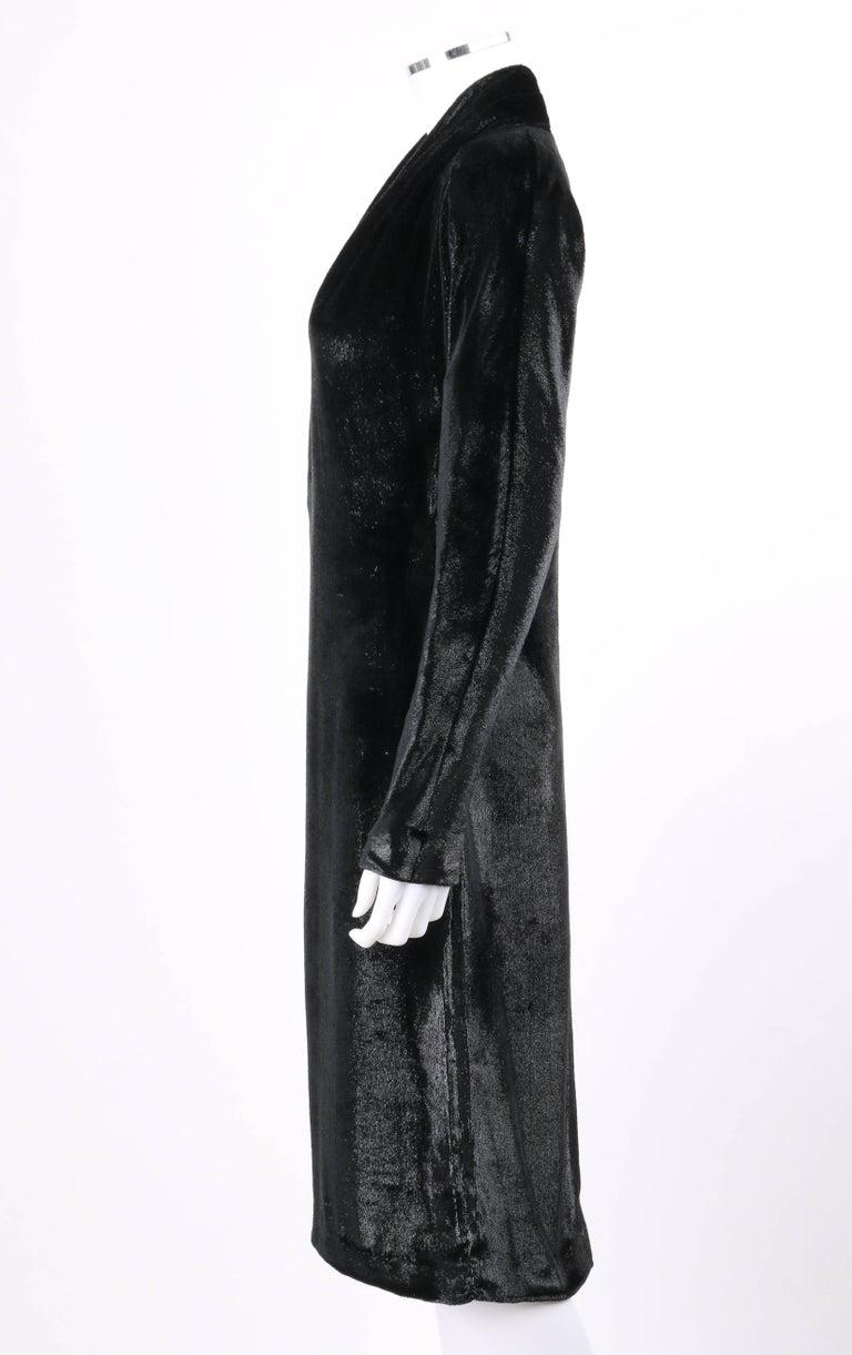 YVES SAINT LAURENT A/W 2000 YSL Black Lame Velvet Cocktail Evening Dress 6
