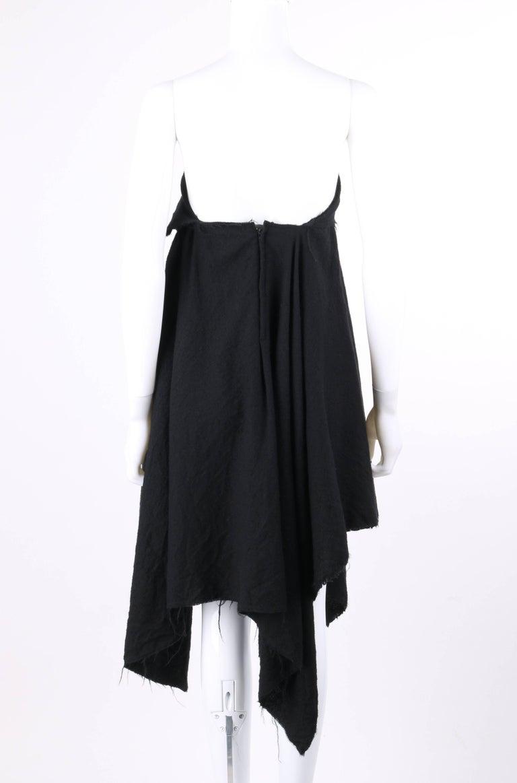 Women's COMME DES GARCONS A/W 2003 Black Wool Handkerchief Hem Convertible Dress / Skirt For Sale