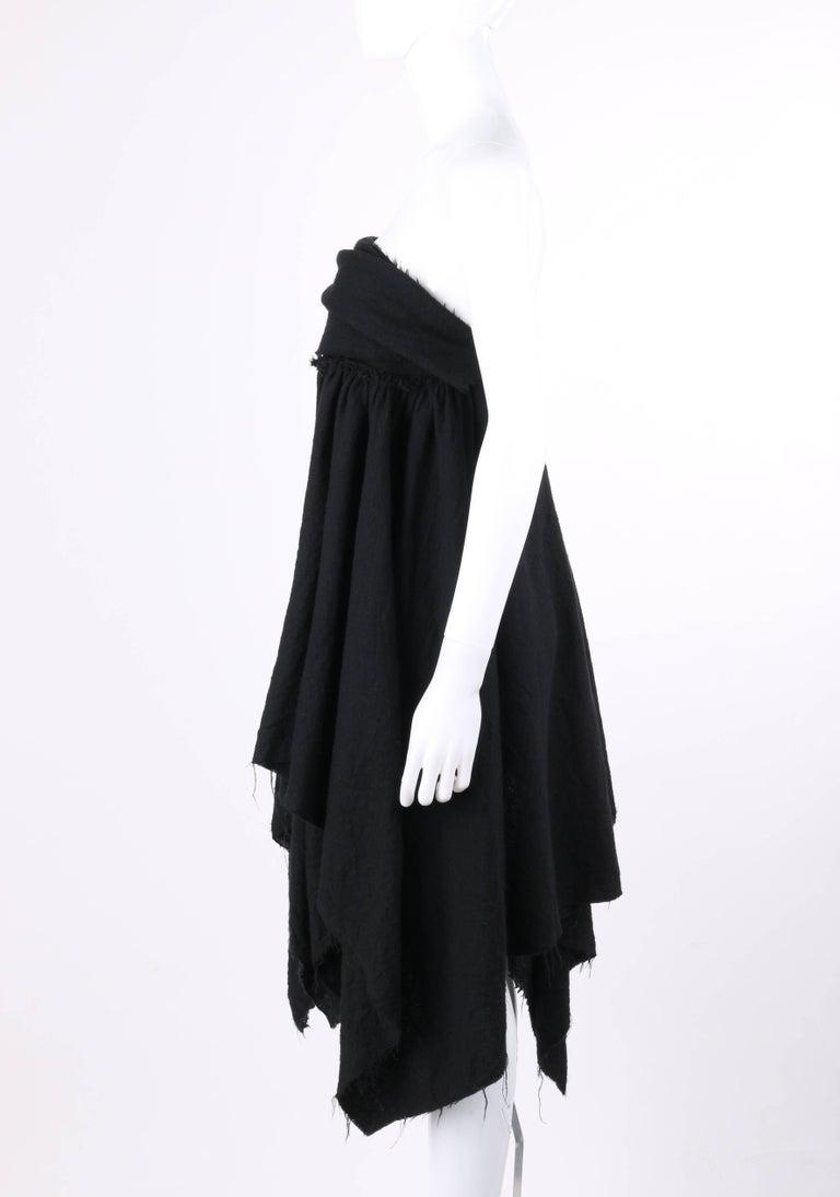 COMME DES GARCONS A/W 2003 Black Wool Handkerchief Hem Convertible Dress / Skirt For Sale 1