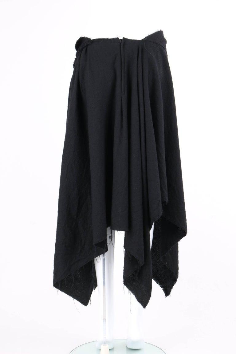 COMME DES GARCONS A/W 2003 Black Wool Handkerchief Hem Convertible Dress / Skirt For Sale 4