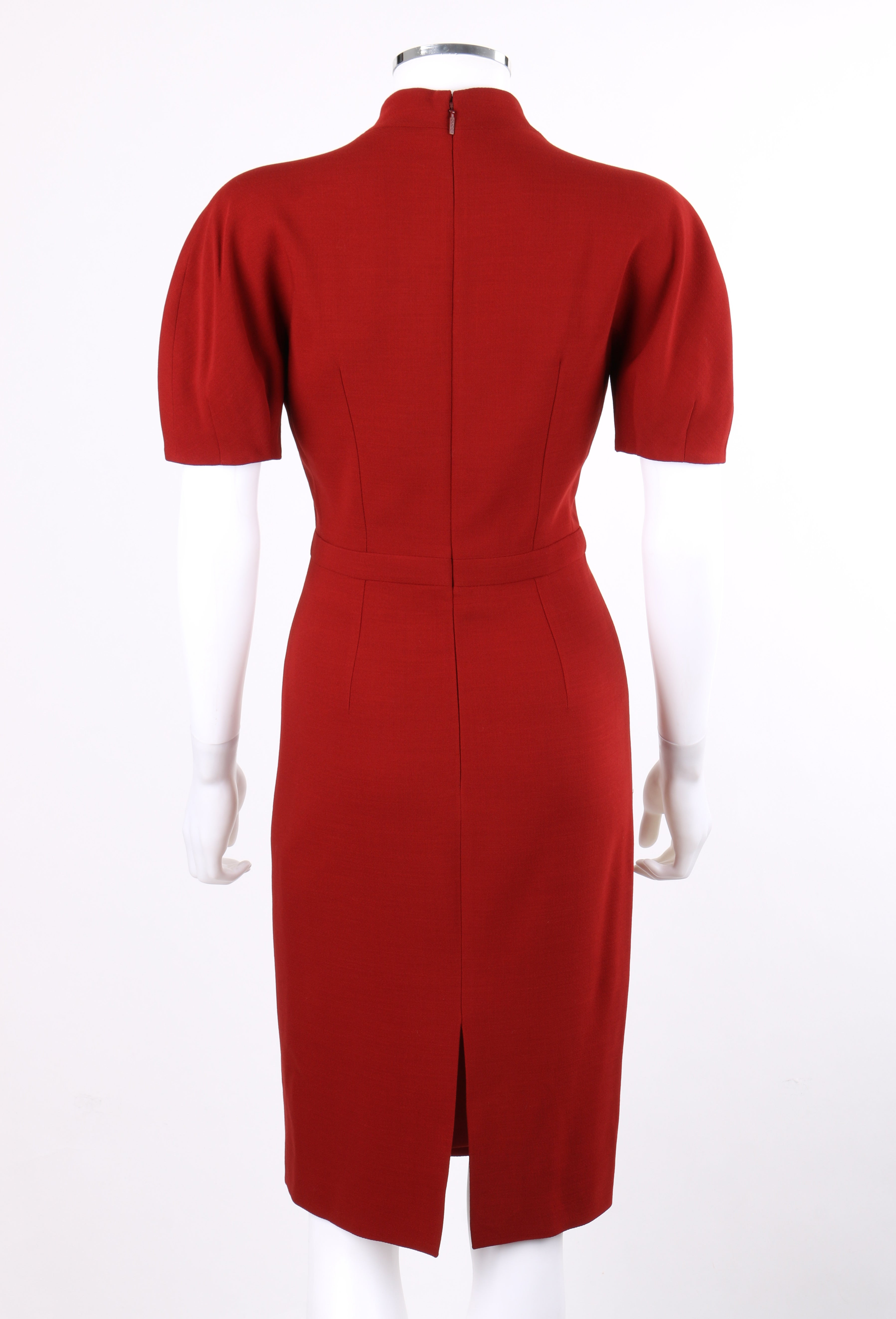 d746ca44f GUCCI Pre-Fall 2013 Red Wool Button Front Dolman Sleeve Shift Dress NWT at  1stdibs