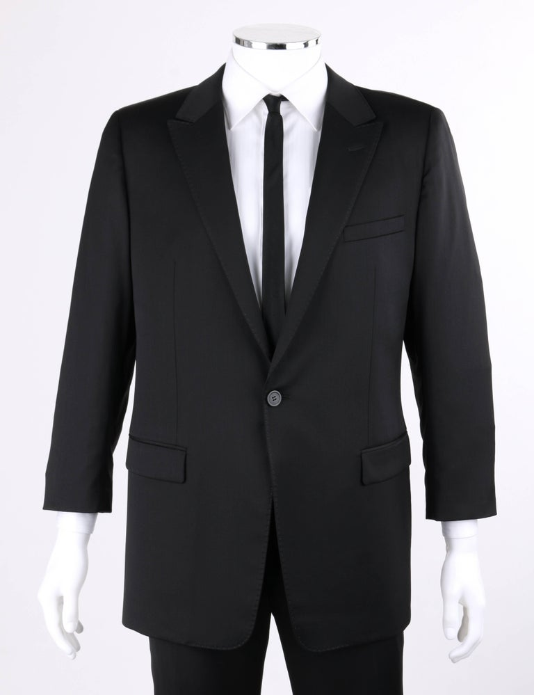 a1c2c4f3ef EMPORIO ARMANI David Line A/W 2014 DAVID BECKHAM 2 Pc Black Wool Pant Suit  Tux