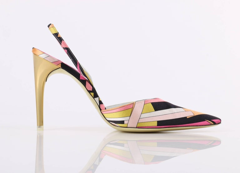 Emilio Pucci Woman Lace-up Satin And Leather Sandals Multicolor Size 40 Emilio Pucci kyFG7ESf4
