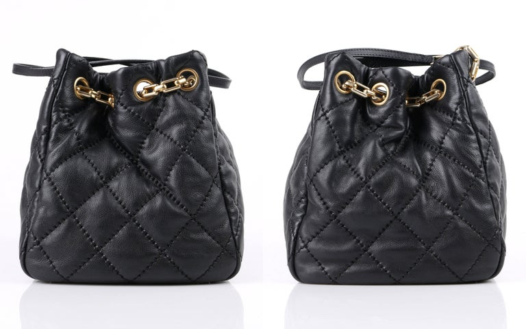 CHANEL S S 2011 Black Quilted Leather CC Turnlock