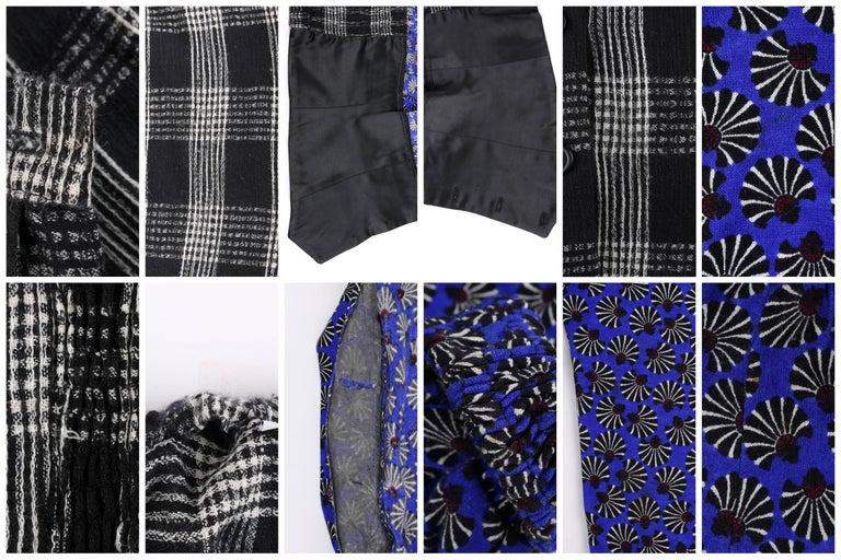 KOOS VAN DEN AKKER c. 1980's 4 Pc Patchwork Blouse Skirt Pants Suit Set w/ Shawl For Sale 5