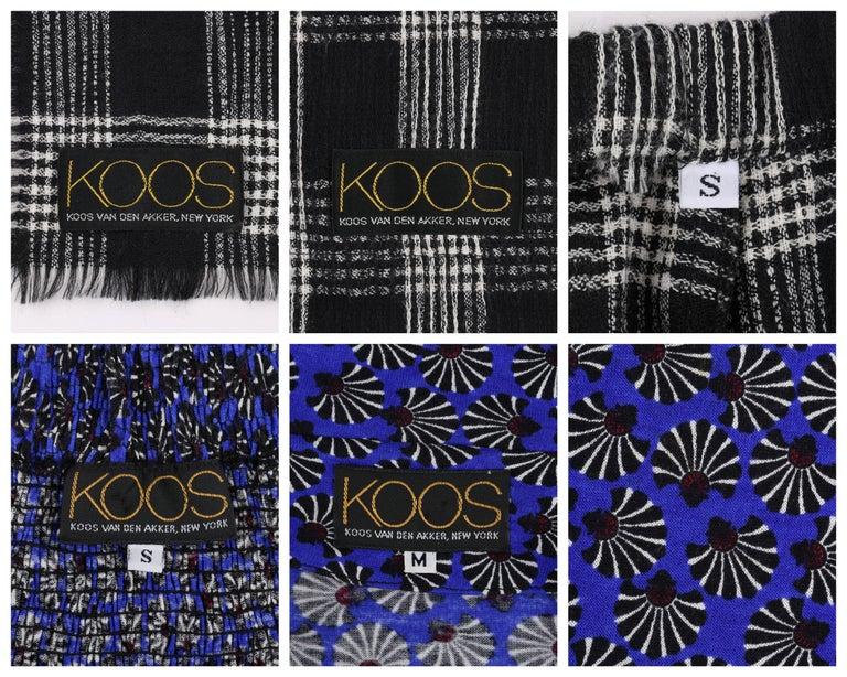 KOOS VAN DEN AKKER c. 1980's 4 Pc Patchwork Blouse Skirt Pants Suit Set w/ Shawl For Sale 4