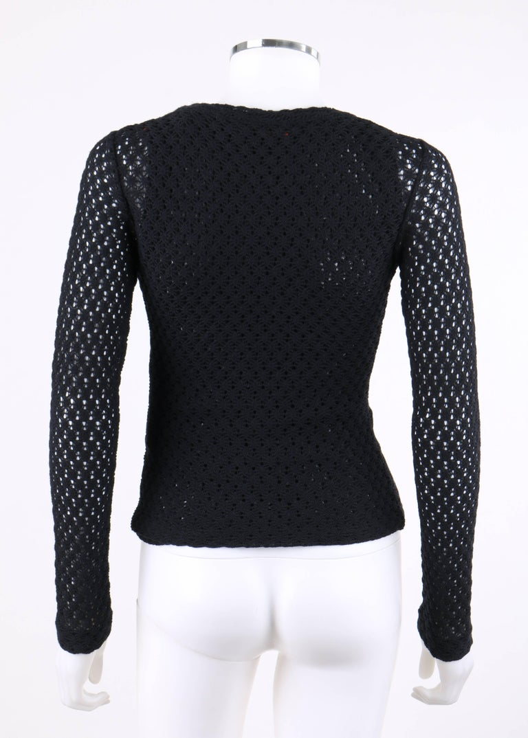 Black MISSONI A/W 2011 2 Piece Crochet Knit