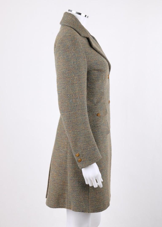 Gray VIVIENNE WESTWOOD Red Label S/S 1999 Tweed Wool Tailored Princess Coat Jacket For Sale