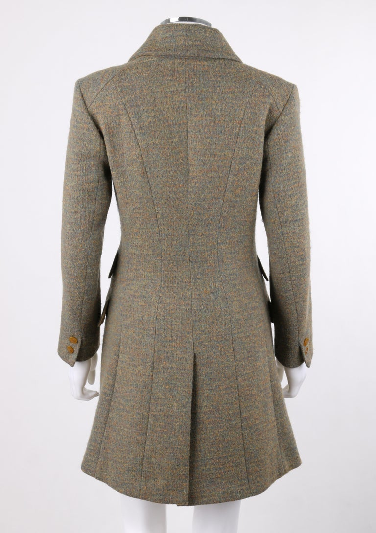 VIVIENNE WESTWOOD Red Label S/S 1999 Tweed Wool Tailored Princess Coat Jacket In Excellent Condition For Sale In Thiensville, WI