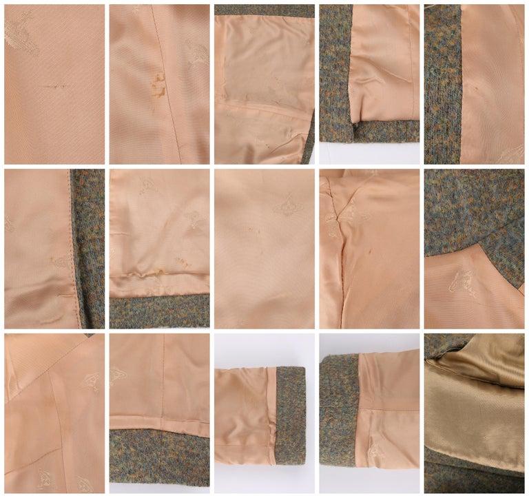 VIVIENNE WESTWOOD Red Label S/S 1999 Tweed Wool Tailored Princess Coat Jacket For Sale 3