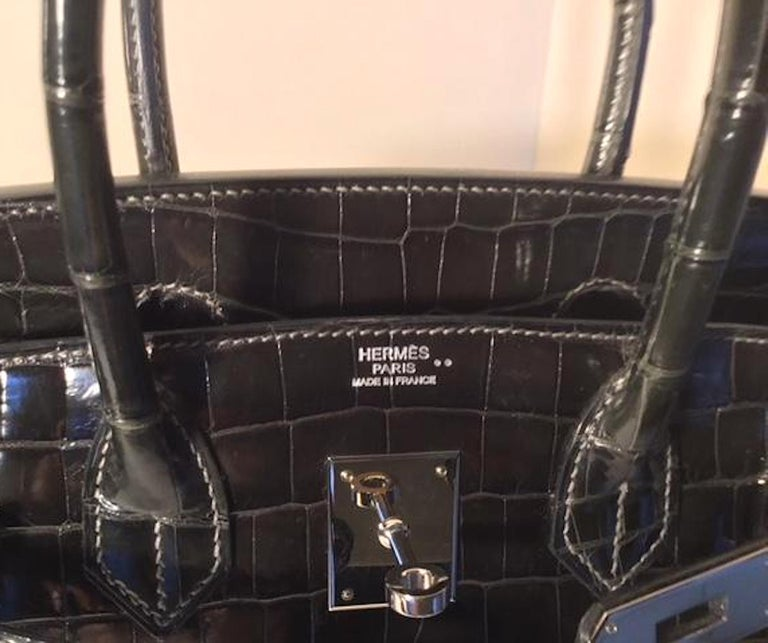 0ac237a4ab Hermes Birkin 30 Crocodile Niloticus Shiny Graphite For Sale at 1stdibs