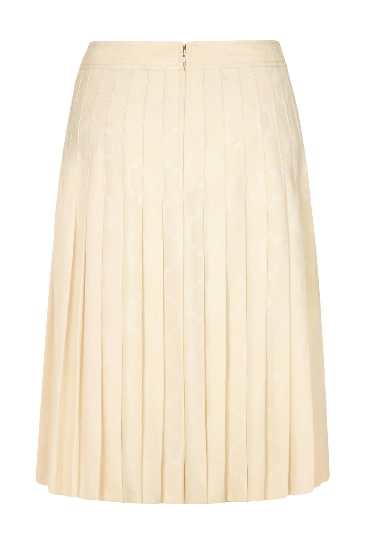 Cream Pleated Skirt 17